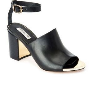 Rachel Zoe Grechen Black Leather Sandal